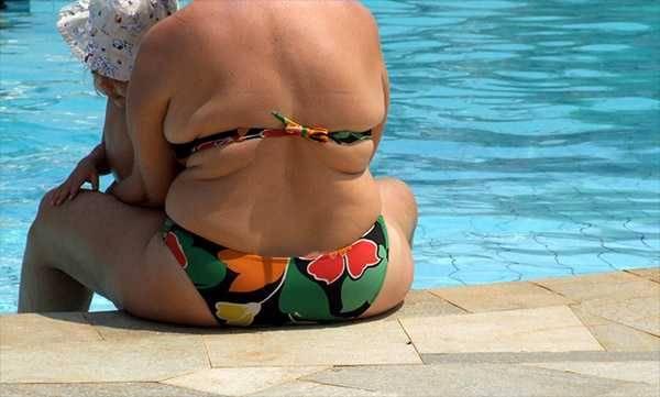 Kobieta z lekką nadwagą