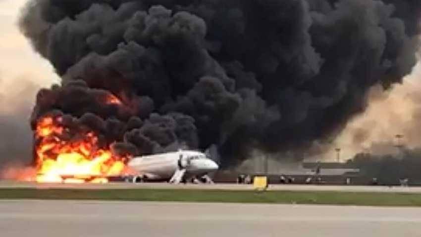 Dym, moskwa, samolot,