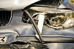 Rozbite auto, wypadek