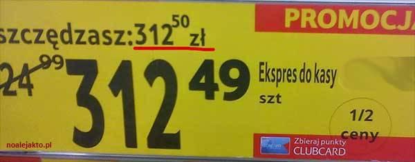 Ekspres do kasy? Przeceniony o grosz!, zdjęcie: noalejakto.pl