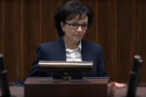 Marszałek sejmu Elżbieta Witek, źródło: youtube.pl