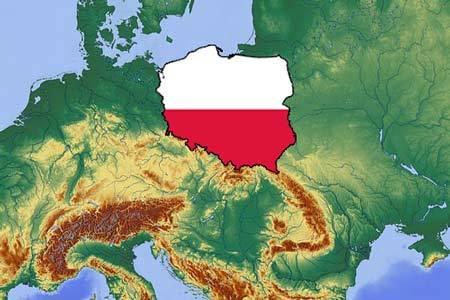 Polska na mapie hipsometrycznej Europy!