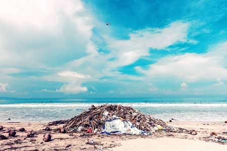 Śmieci wyrzucone przez morze, ocean, źródło: pexels
