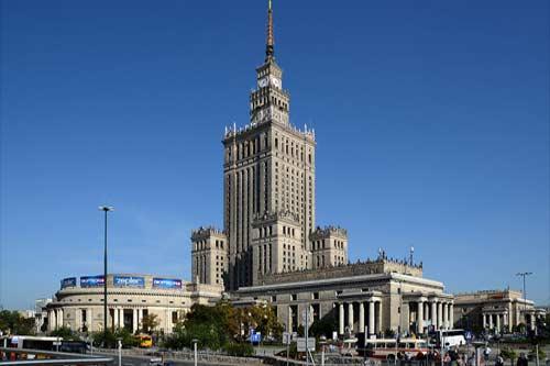 Pałac Kultury i Nauki w Warszawie, źródło: Wiki Commons