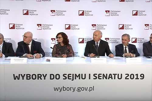 Państwowa Komisja Wyborcza - zdjęcie z konferencji prasowej, źródło: youtube.pl