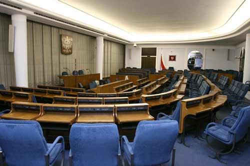 Sala Senatu Rzeczypospolitej Polskiej, foto: Wiki Commons